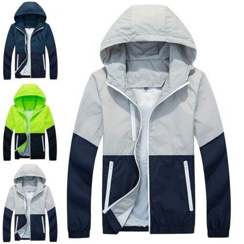 US Mens Zipper Hoodie Sport Outwear Coat