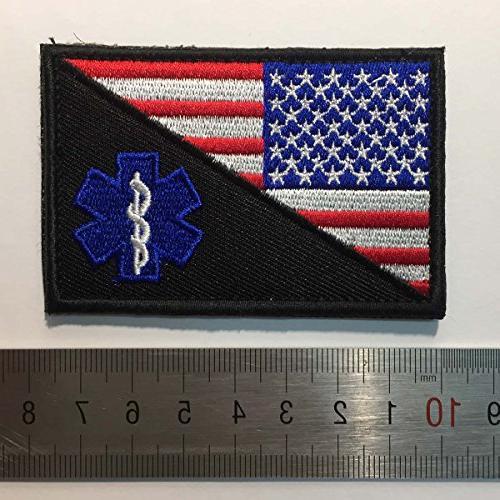"SpaceCar USA American of Paramedic Medic Tactical EMT EMS Badge Decorative Patch 2"""
