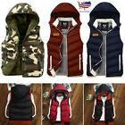 USA Men Winter Jacket Vest Sleeveless Coat Slim Fit Warm Sta