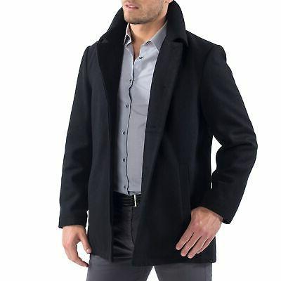Alpine Swiss Vance Jacket Wool Blend Up Coat
