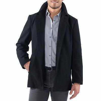 Alpine Swiss Mens Jacket Wool Blend Up Coat Coat