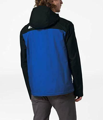 The North Venture 2 Waterproof Hooded Rain Jacket Blue Mens Large