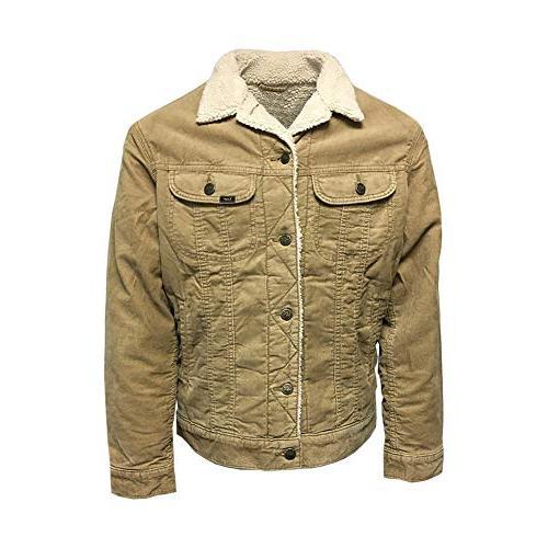 vintage mens corduroy sherpa rider jacket antilope