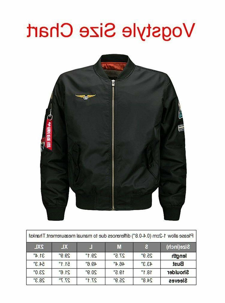 Jacket Sky Patch Embroidery Fit Bomber