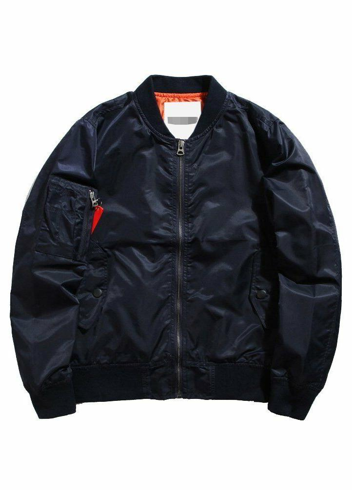 Jacket Air Sky Patch Fit Bomber