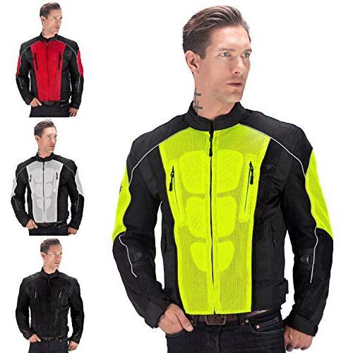 warlock motorcycle mesh jacket for men