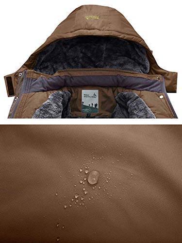 JINSHI Fleece Hooded Rain Jacket