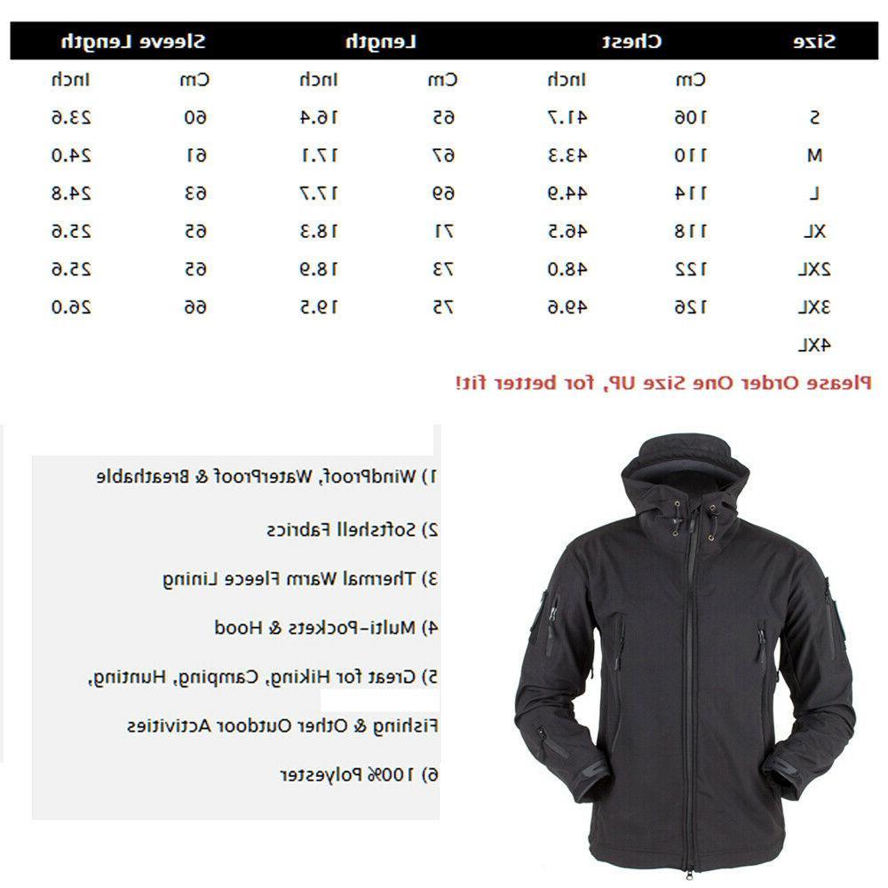 Waterproof Mens Jacket Coat Military Jacket