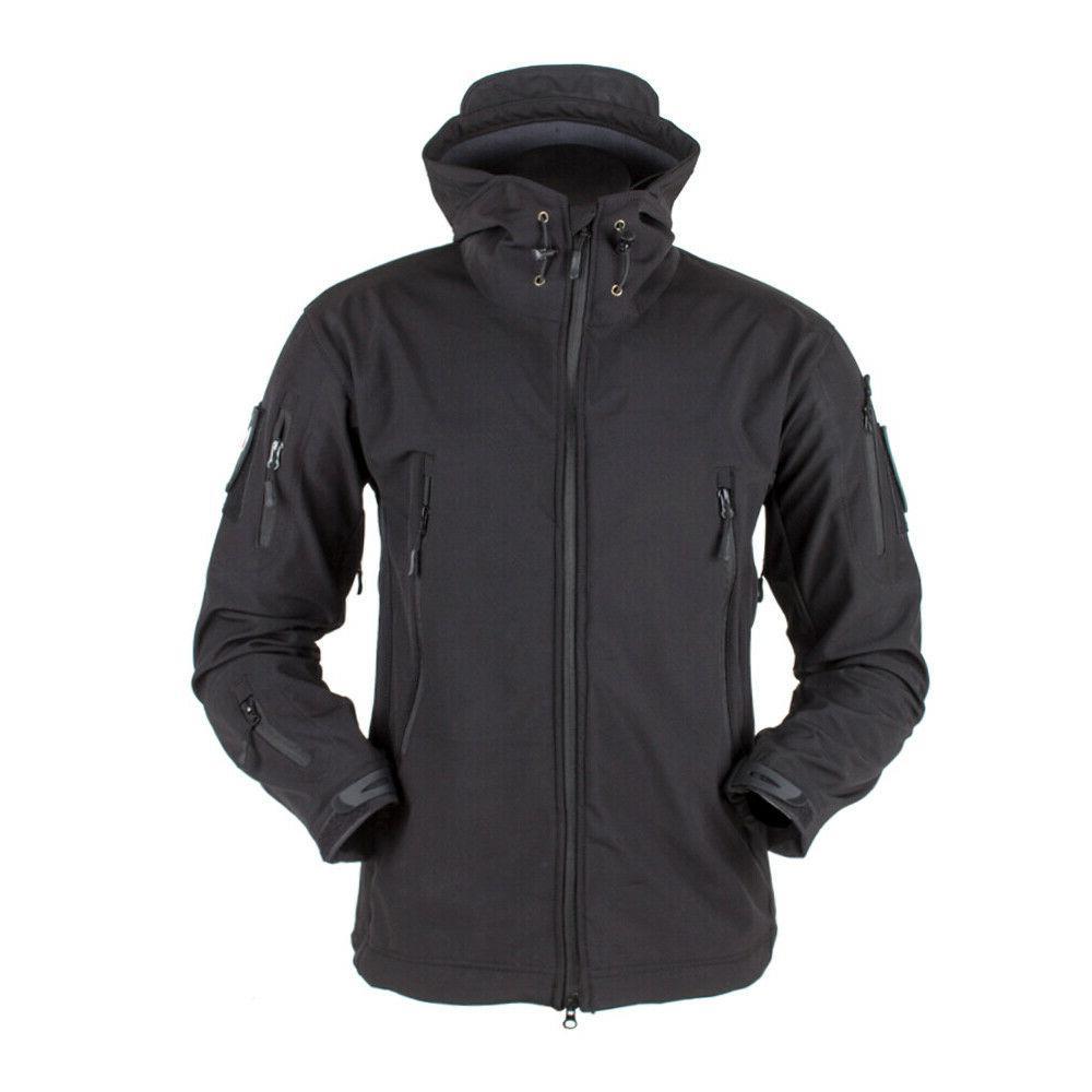 Waterproof Tactical Soft Mens Coat Army Military Jacket Windbreaker