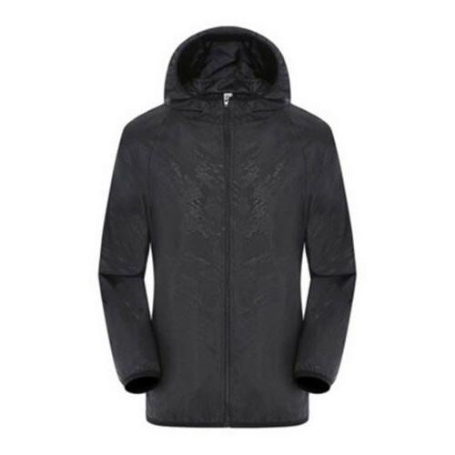 Men Waterproof Jacket Rain Black S4XL
