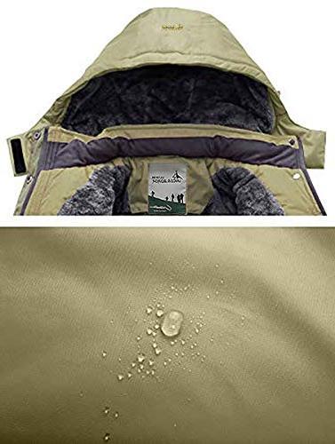 Pooluly Rain Snow Jacket Fleece Ski Coat