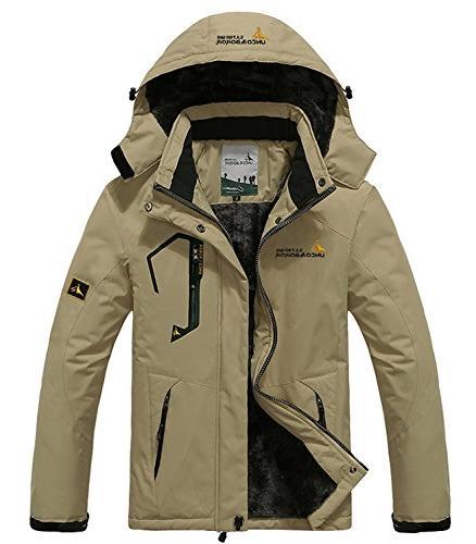 Pooluly Waterproof Windproof Rain Hooded Fleece ,
