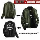 Wind Breaker Men Jacket With Patches Both Side Wear Thin Bom