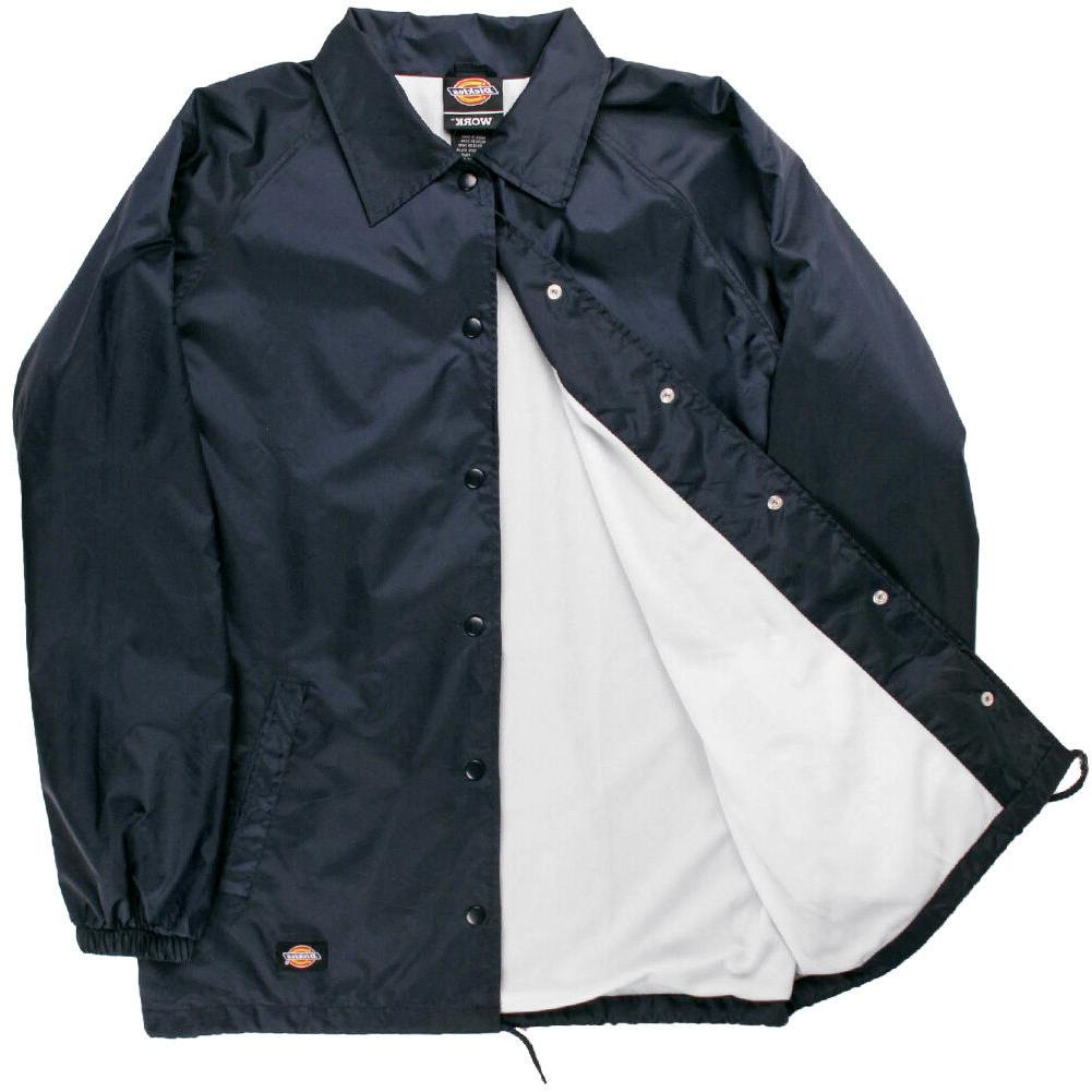Dickies Windbreaker Men's Nylon Coaches Jacket Navy Style #