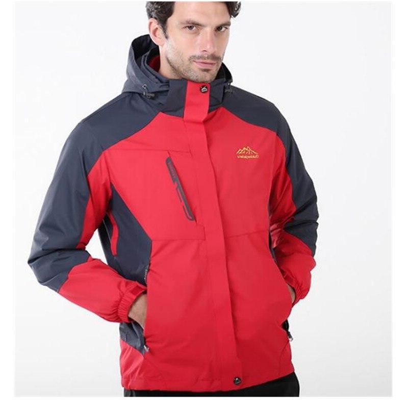 Windproof Ski <font><b>Jackets</b></font> 3 Layers,Men Women Sport Camping Thermal Fleece Hiking Tactical