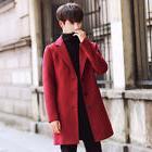 Winter British Men's Casual Jacket Trench Long Overcoat Warm