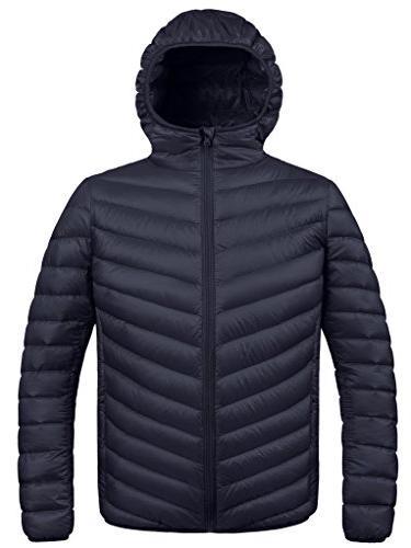 winter hooded packable down jacket