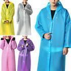 Women/Men Waterproof Jacket Clear EVA Raincoat Rain Coat Hoo