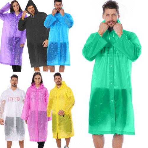 women men waterproof jacket clear pe raincoat