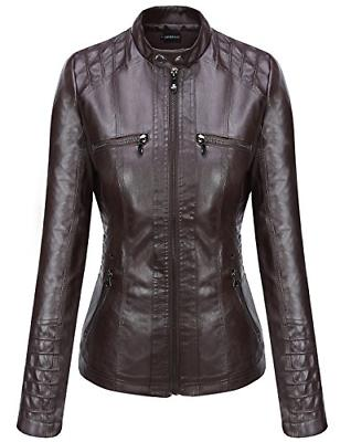 Tanming Hooded Faux Jackets X-Large, Dark
