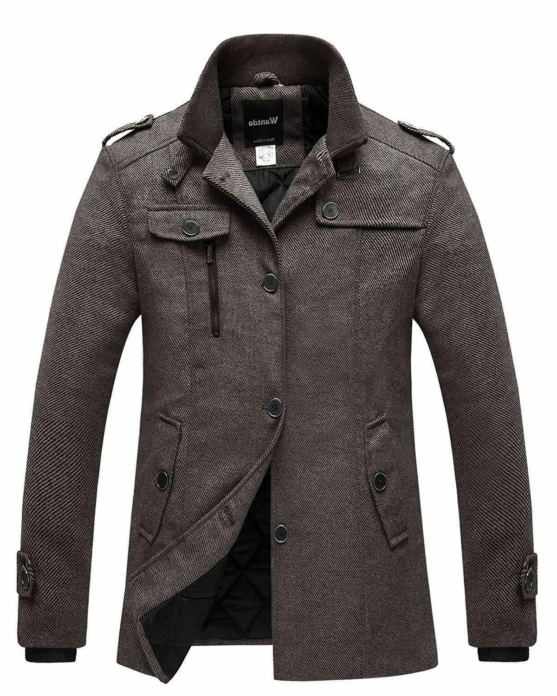 Wantdo Breasted Peacoat Jacket - XL US -
