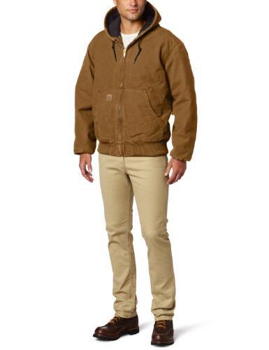 Carhartt Work Jacket Quilt Lined Brown J130