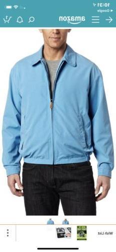 London Fog Men's Zip Front Light Mesh Lined Golf Jacket,  Ic