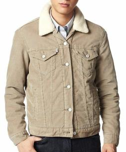 Levi's Men's Button Up Corduroy Sherpa Fleece Lined Jacket C
