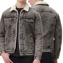 Levi's Men's Cotton Sherpa Lined Denim Jean Trucker Jacket G