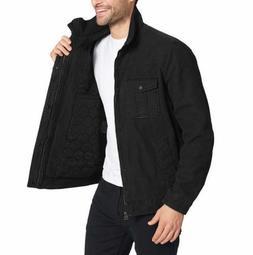 Levi's Men's Full Zip Jacket, Color:Black
