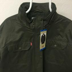 Levi's Men's Full Zip Light Weight Jacket, Olive-Large NWT!!