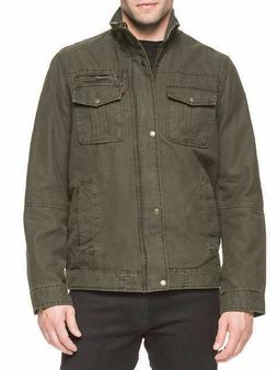 Levi's Men's Knit Collar Cotton Canvas Shell Trucker Jacket