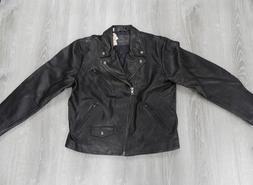 Levi's Men's Leather Moto Trucker Jacket