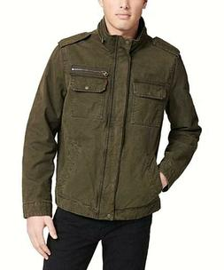 Levi's Men's Military Canvass Field Jacket Olive Small Free