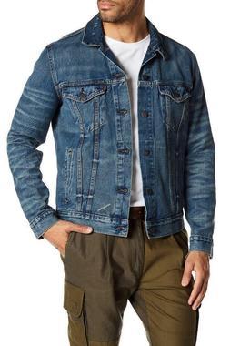 Levi's Men's Premium Button Up Distressed Denim Trucker Jean