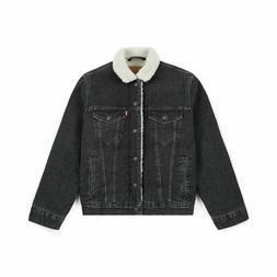 Levi's Men's Premium Cotton Sherpa Lined Denim Trucker Jean