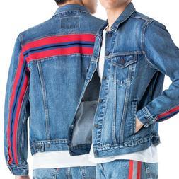 Levi's Men's Premium Trucker Denim Red Stripe Jean Jacket 67