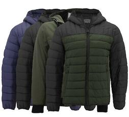 Levi's Men's Puffer Embroidered Logo Hood Quilted Packable Z