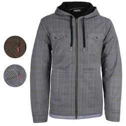 Levi's Men's Sherpa Lined Long Sleeve Flannel Zip Fleece Hoo