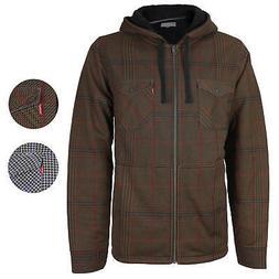 Levi's Men's Soft Sherpa Lined Long Sleeve Flannel Zip Up Ho