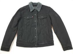 Levi's Men's Type III Sherpa Jacket, Duvall, Small Black Coa