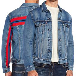 Levi's Men's Unibasic Icon Trucker Denim Red Stripe Jean Jac