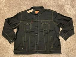 Levi's Trucker Jacket Black Big & Tall Sizes 4XL OR 2XL NWT