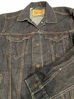 Levis Dark Stonewash Trucker Denim Jacket OG Cotton 72334 MS