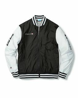 Champion Life Mens Jacket Baseball Multi Logo Patches Retro