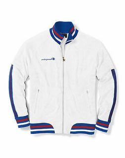 Champion Life Men Track Jacket Warm Up Terry Full Zip Pocket
