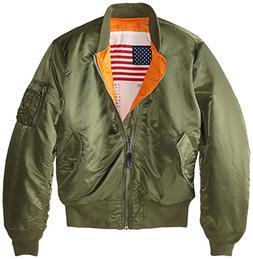 Alpha Industries Men's MA-1 Bomber Blood Chit Flight Jacket,