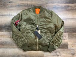 Alpha Industries MA-1 Bomber Jacket Vintage Olive Green Men'