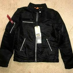 Alpha Industries Machina Motorcycle Jacket Mens Size Small