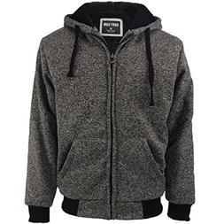Gary Com Marled Heavyweight Sherpa Lined Fleece Hoodies for